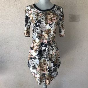 Vibe Sportswear Stretch Bodycon Dress Floral L/XL
